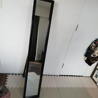 ブラック縦鏡