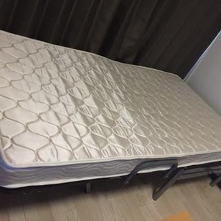 【無料】リクライニング付きシングルベッド+マットレス