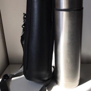 ステンレス水筒 ソフトショルダーケース付き!