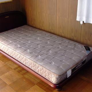 シングルベッド SERTA ブランド マホガニーフレーム