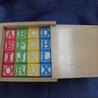 木製 知育玩具 ABCブロック 48ピース 西岡店