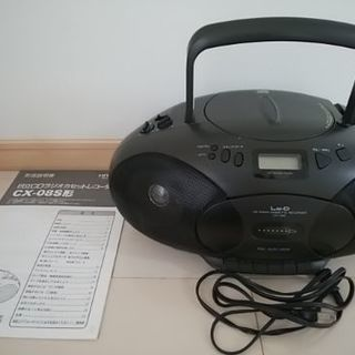 日立CDラジオカセットレコーダー 黒