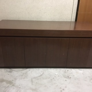 特注 木製 大型 展示台 テーブル 収納・キャスター付 店舗 商...
