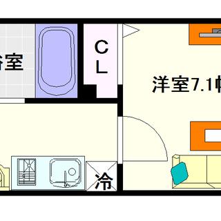 【フォレステージ桜川】8号タイプ!1Kタイプ!南向きバルコニーで明るい☆
