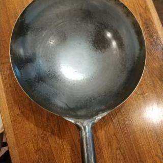 業務用鉄打出片手中華鍋36cm(板厚1.6mm)