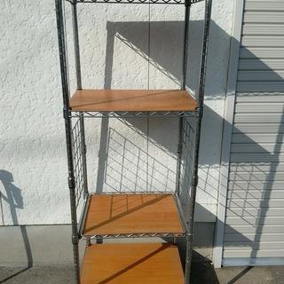 メタルラック パソコンラック 収納 木製 棚