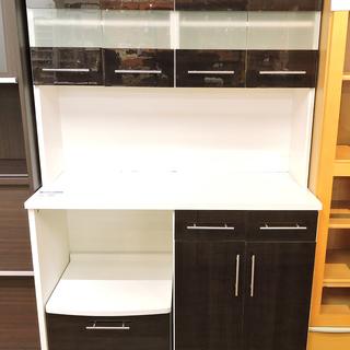 北大前! 札幌 引取 大型食器棚 ブラウン系 収納たくさん キッチ...