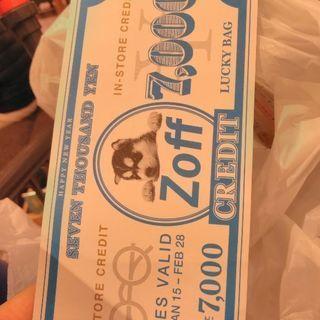 Zoff 7000円分