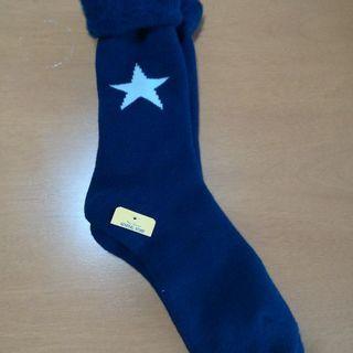 レディース ブルー スター 靴下 新品未使用