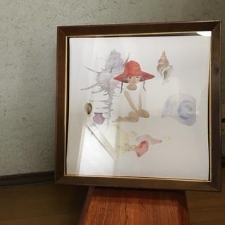 天然木製額 写真にも 絵画にも 自立します 中古
