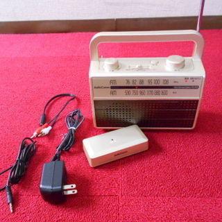 オーム電機 ラジオ付き耳もとスピーカー