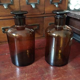 値引き アンティーク 大きめの古い薬瓶
