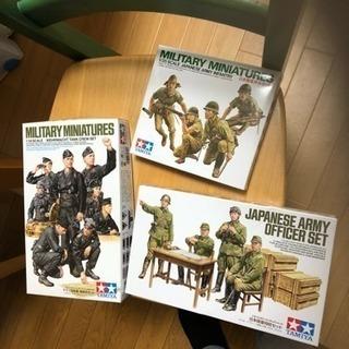 タミヤ日本陸軍歩兵セット、将校セット&ドイツ国防軍戦車兵セット