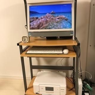 パソコンラック パソコンデスク ナチュラル