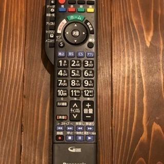 【中古】Panasonic 液晶テレビ用リモコン N2QAYB  蓋無
