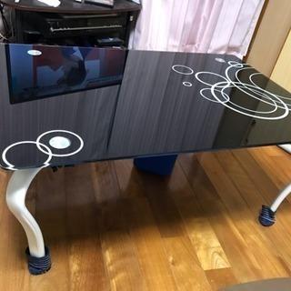 オシャレなガラステーブル! 引取限定