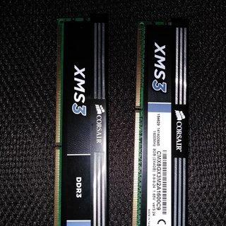 【値引きしました】メモリー(DDR3、4GB×2枚)