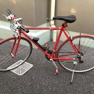 クロスバイク!自転車!ロードバイクの入門でいかがですか?今なら鍵付き!