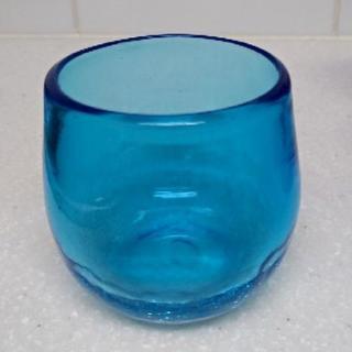 【沖縄】海を思わせるキレイな琉球ガラスのコップ