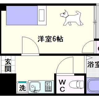 【ライフステージ難波】5号タイプ!1Kタイプ!広めの洋室が人気の秘密!
