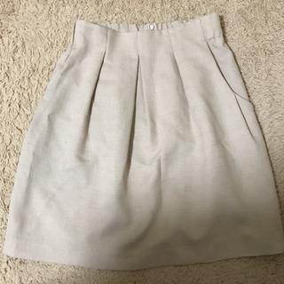 スカート クリーム色 ポケット付き ストロベリーフィールズ