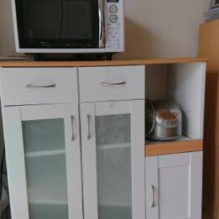 食器棚(レンジ台、炊飯器スライド棚付)