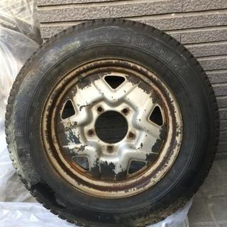 SJ30純正タイヤホイール4本セット(鉄チン)