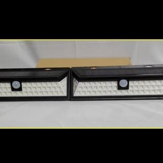 驚異の54球,LEDソーラーライト 2個セット ★防犯灯