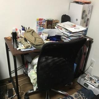シンプル机と椅子 学習机等に