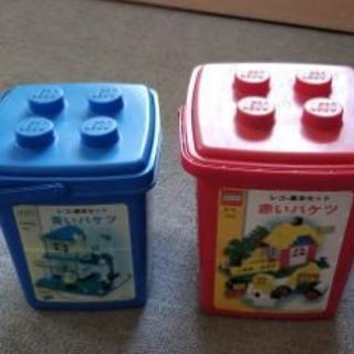 レゴの赤と青のバケツセットです❗