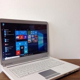 引越しセール!美品VAIO最新Windows10ノートパソコンo...