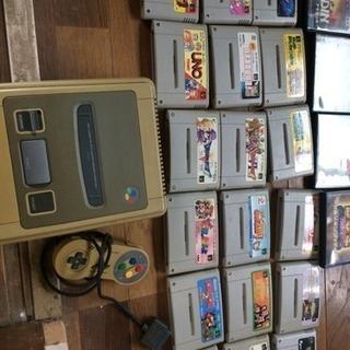 懐かしいゲームたくさん!スーファミ本体、ソフトとPS2 のソフト!