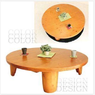 天然木 円形100cm テーブル ちゃぶ台