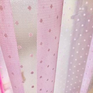 ピンクのかわいい カーテン   新品保管 ビンテージ昭和レトロ
