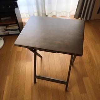 ニトリ 折り畳みテーブル 木製