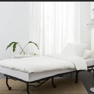 IKEA LYCKSELE LOVAS1人がけソファベッドセミシングル