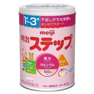 粉ミルク「明治ステップ800g」3缶