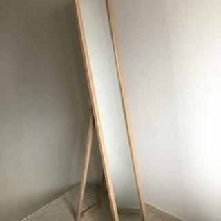 「ラストセール!」木製スタンドミラー(ナチュラルブラウン)