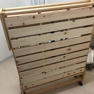 【未使用】中居木工 シングルハイ すのこベッド