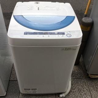 #2201 2015年製 シャープ 5.5kg 全自動洗濯機 ブ...