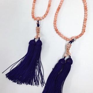 珊瑚/サンゴ 数珠 美品