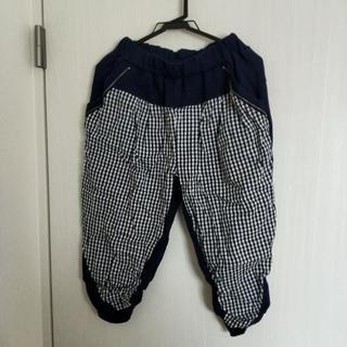 【未着用】チェック7部丈パンツ2枚セット