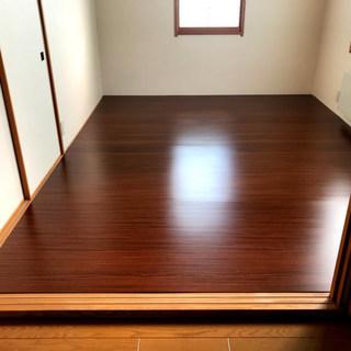 木目調フローリング 和室も洋室に大変身 ウッドカーペット …