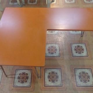 L字型 折り畳み 座卓テーブル ちゃぶ台 ローテーブル