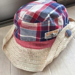 帽子 50cm つばの部分は麦わら?