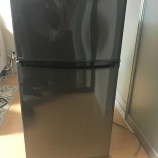 【美品】2ドア冷蔵庫 ブラック