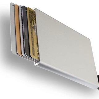 未使用品 スライド式カードケース シルバー スキミング防止 磁気防止