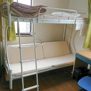 パイプ二段ベッド