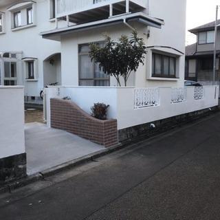 外塀塗装工事☆
