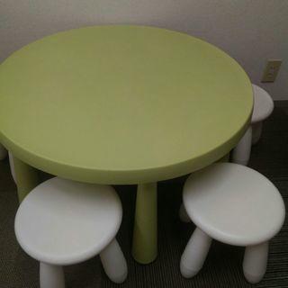 子ども用 円形テーブル&椅子セット